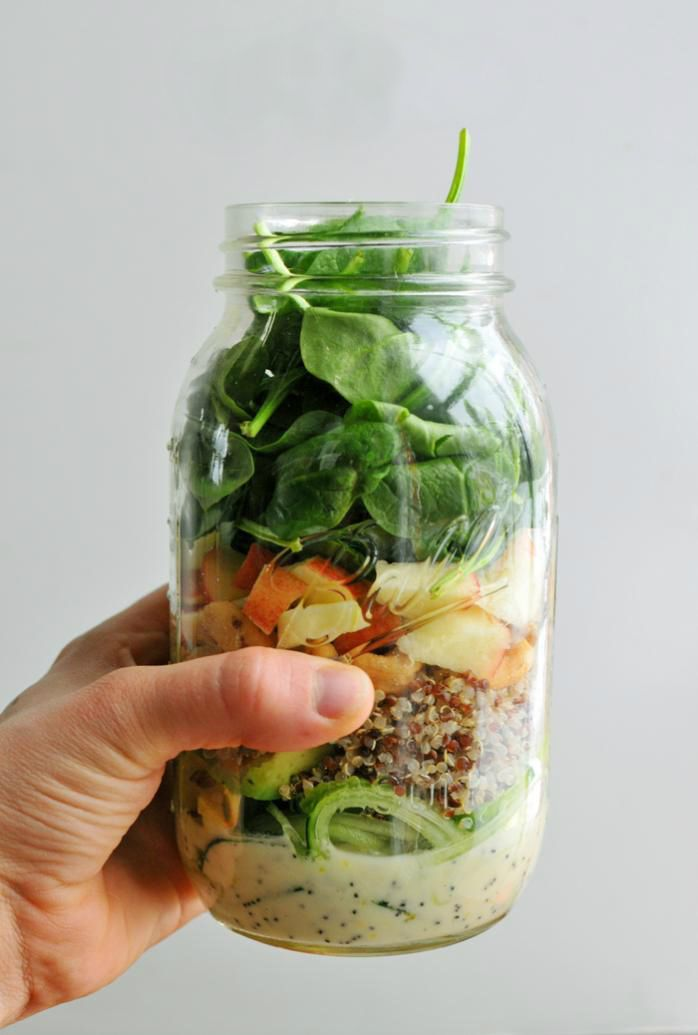 20 Mason Jar Salads to Pack for Lunch This Week via Brit + Co.