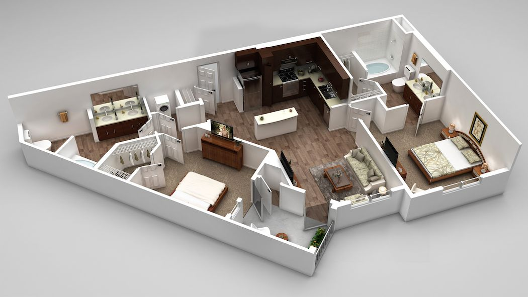 Our B1 Floor Plan 1017 1162 Square Feet Luxury Apartments Floor Plans Apartments For Rent
