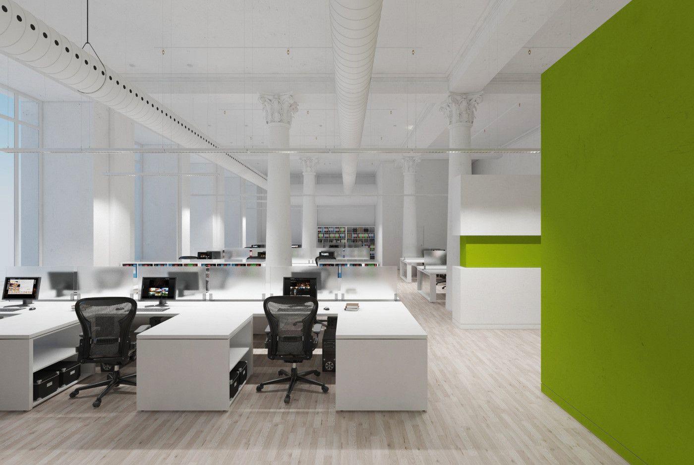 3d Model Office Interior Open Space Office Modern Office