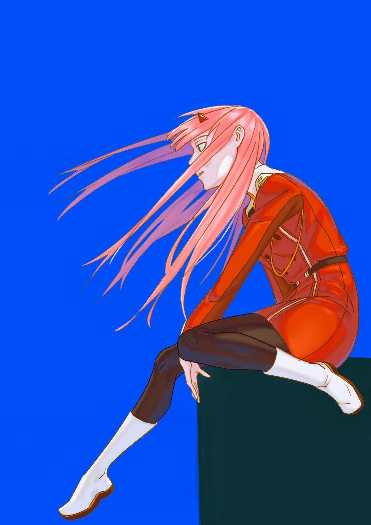Zero Two Darling in the FranXX GG anime Personagem