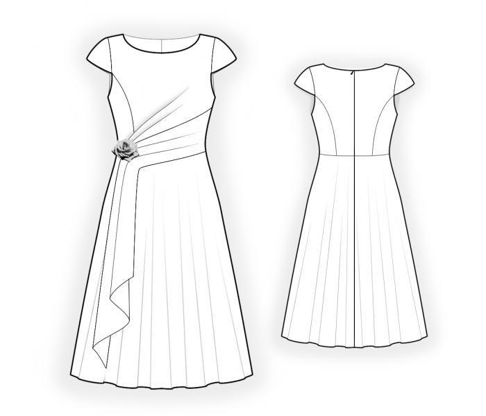 Kleid -Schnittmuster   Malen und Zeichnen   Pinterest ...