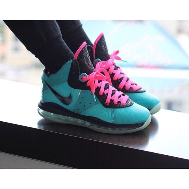 d4ef6c5364e In this pin we have @Lacehersneaks_ (Instagram) in a pair of Nike LeBron 8  'Pre heat | South Beach' #TheSoleLibrary #WomenWednesdays