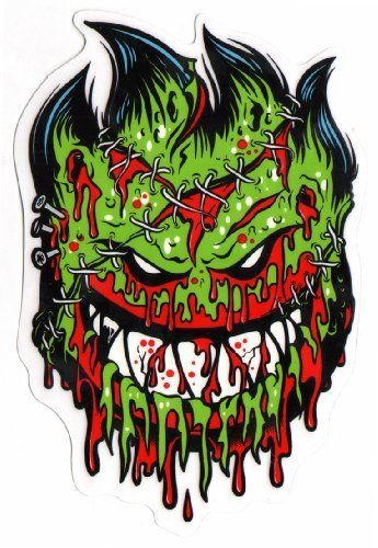 Spitfire wheels psycho zombie skateboard sticker monster horror scary new by spitfire 2 95