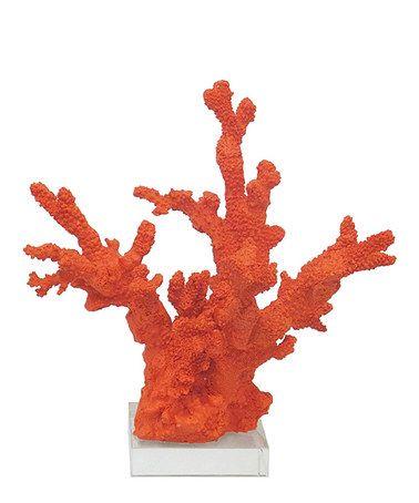 Look what I found on #zulily! Orange Coral Figurine #zulilyfinds