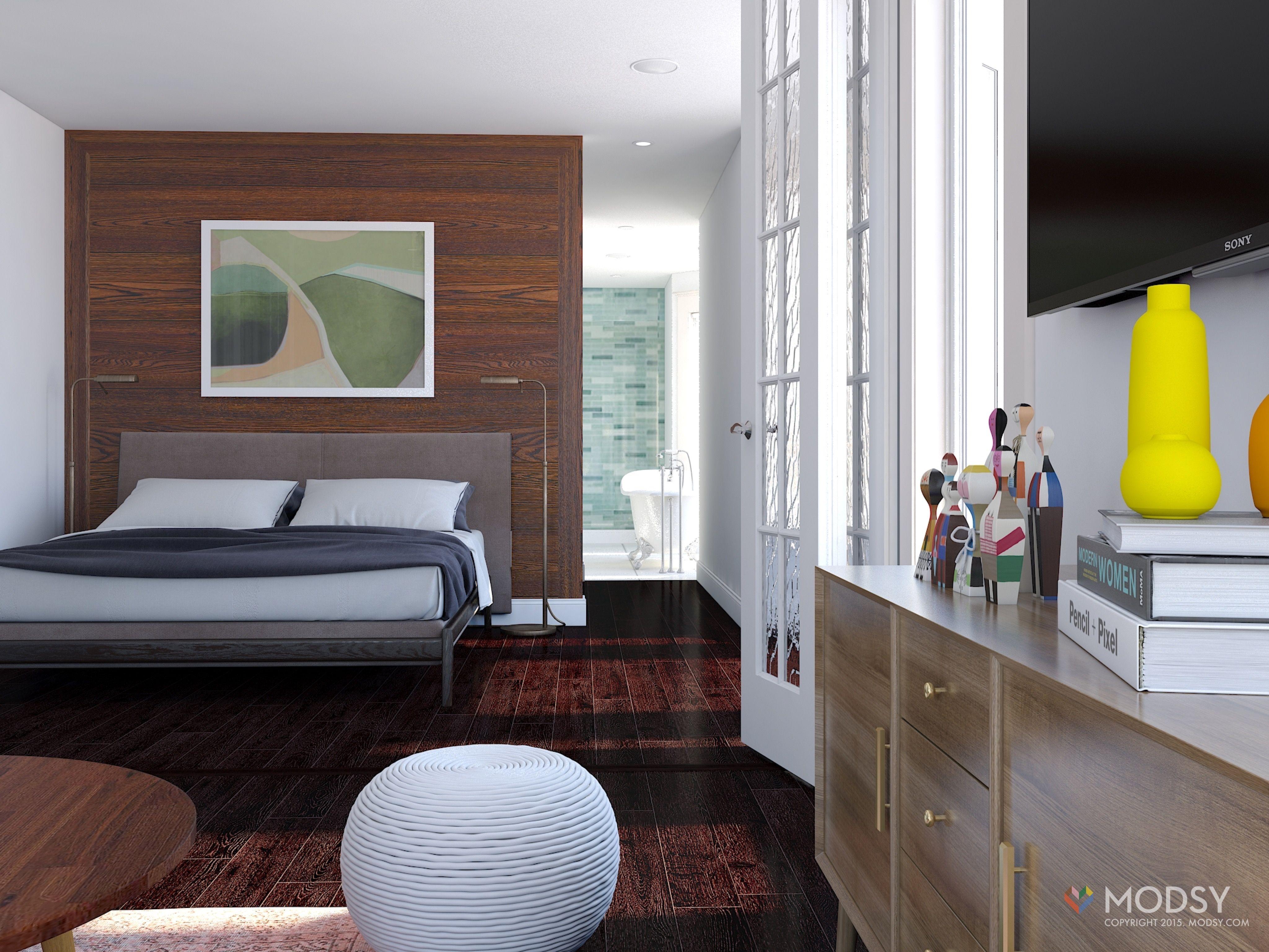 Modern Minimalist Bedroom Furniture Modsy 3d Rendering Modern Minimalist Bedroom Modsymagic