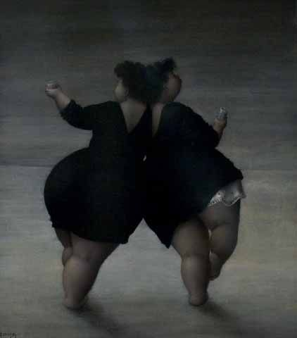 BBW black dancing with toy
