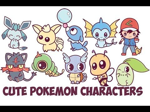 Learn How To Draw Cute Chibi Kawaii Pokemon Characters With Easy