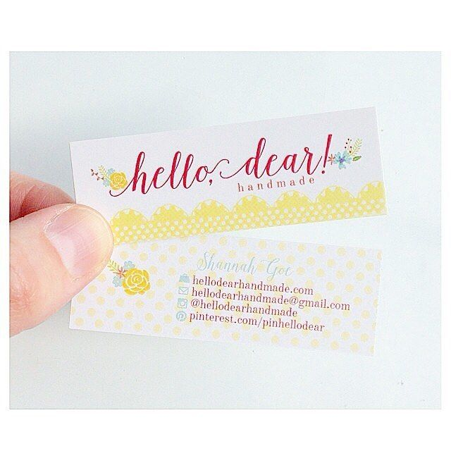 Feminine mini business cards floral and bright business profesh feminine mini business cards floral and bright reheart Images