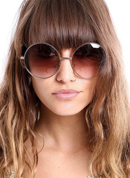 Large Round Frame Sunglasses by MamaVava. Find more awesome sunglasses on  Objectifeyed fbe0e37407