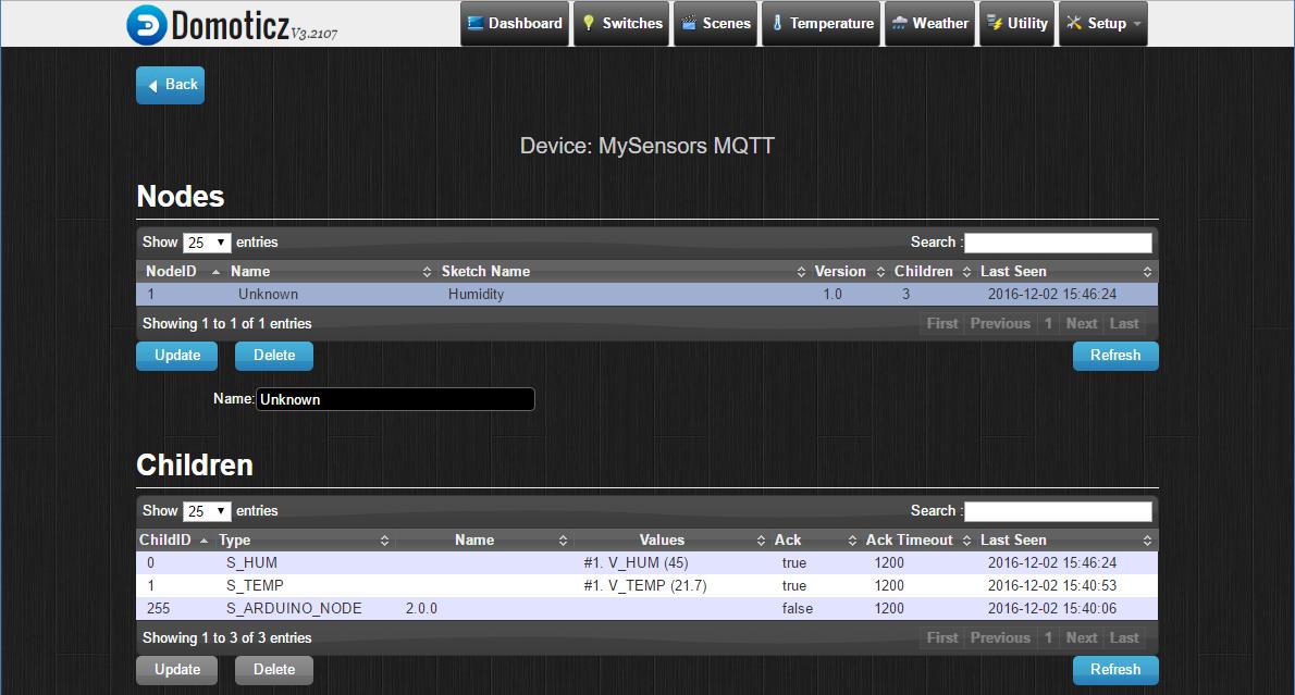 MySensors - mqtt - Domoticz | mysensor2