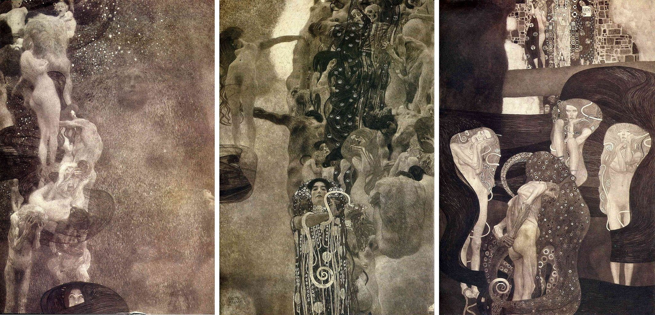Philosophy Medicine Amp Jurisprudence Gustav Klimt 1907 University Of Vienna Ceiling