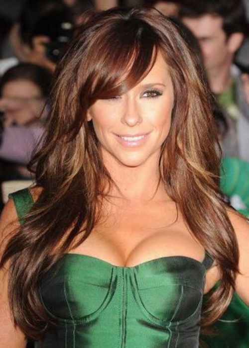 Actress Jennifer Love Hewitt Looks Breathtakingly Beautiful With Loads For Layers In Her Thick Dark Long Layered Haircutslayered
