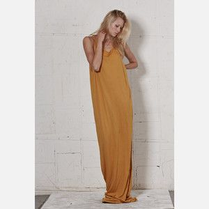 THVM - Daring Denim And Brilliant Basics, Spice Tank Dress Orange, now featured on Fab.