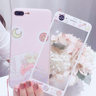 Pink Sailormoon Sleep Phone Case für iPhone 6 / 6s / 6plus / 7 / 7plus / 8 / 8P / X / XS / XR / XS max   – Products