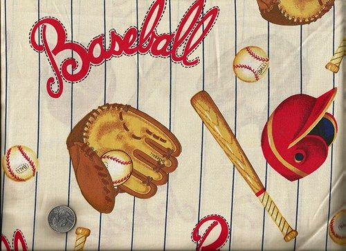 Good Buy 1 Yard 20 Quot Baseball Pinstripes Quilt Fabric