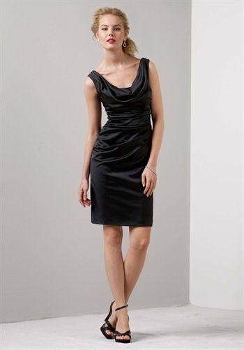 black short bridesmaids dresses