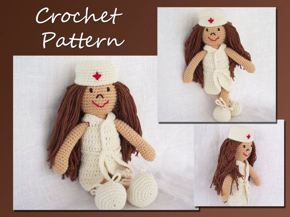 Free Crochet Pattern Nurse Doll Amigurumi Crochet pattern by ... | 428x570
