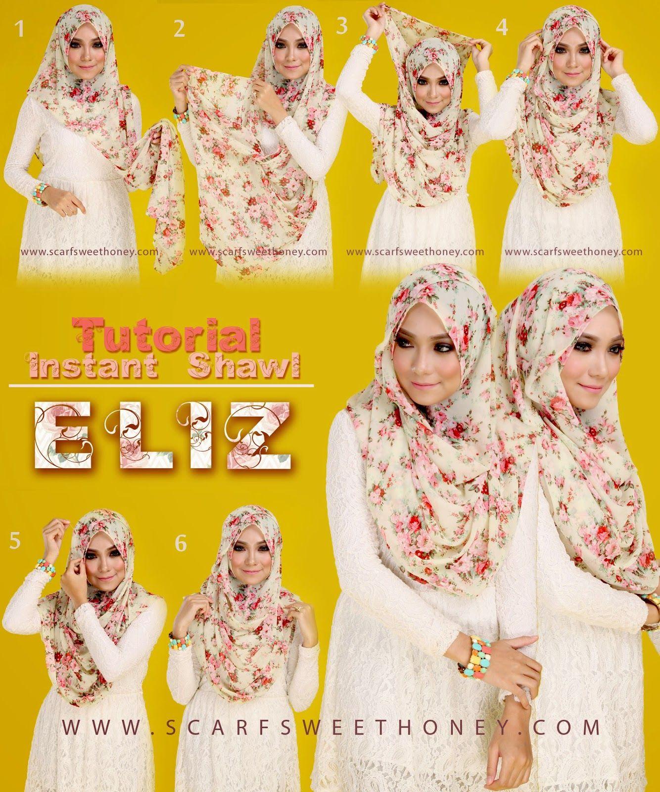 Tutorial Elizjpg 13341600 Hijab Style Pinterest