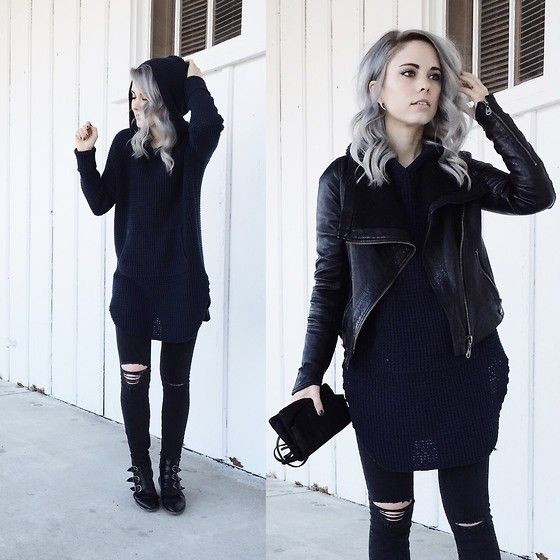 Mary Ellen  Skye - Modern Vice Boots, Madewell Jeans, Urban Outfitters Sweater - B&B