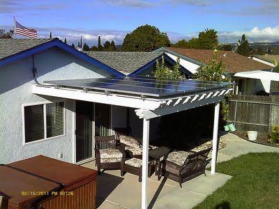 Solar Panel Pergola Backyard Ideas Solar Panels For