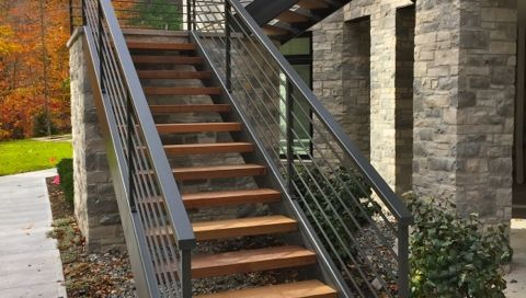 finelli architectural iron and stairs custom handmade exterior wood ...