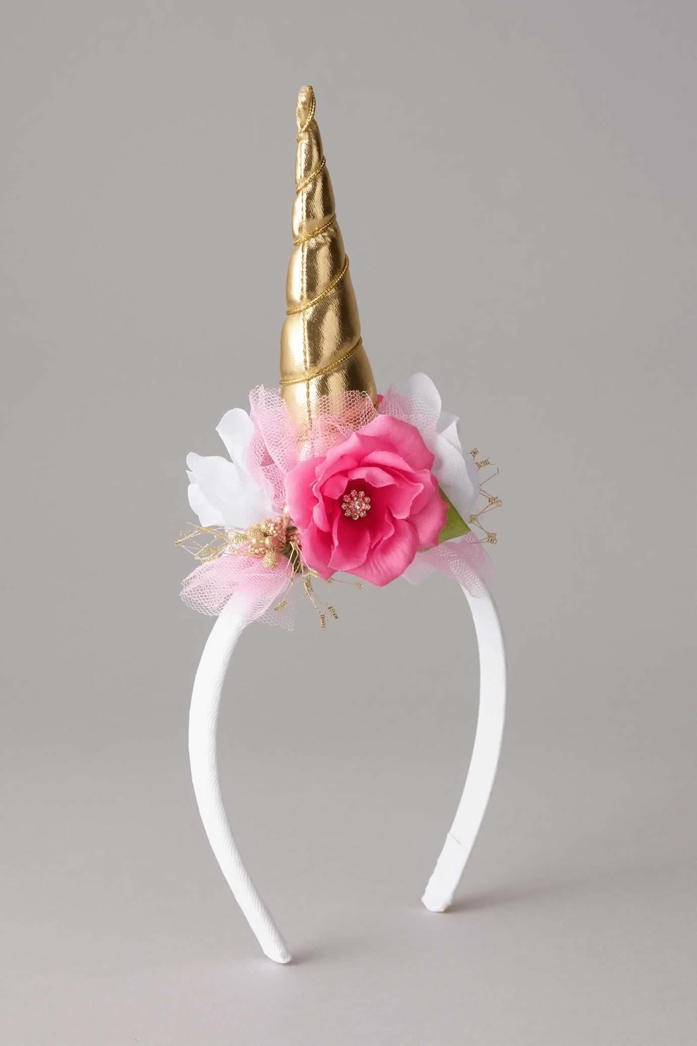 Girls Unicorn Flower Headband   Chasingfireflies  38.00  eee12c9138b2