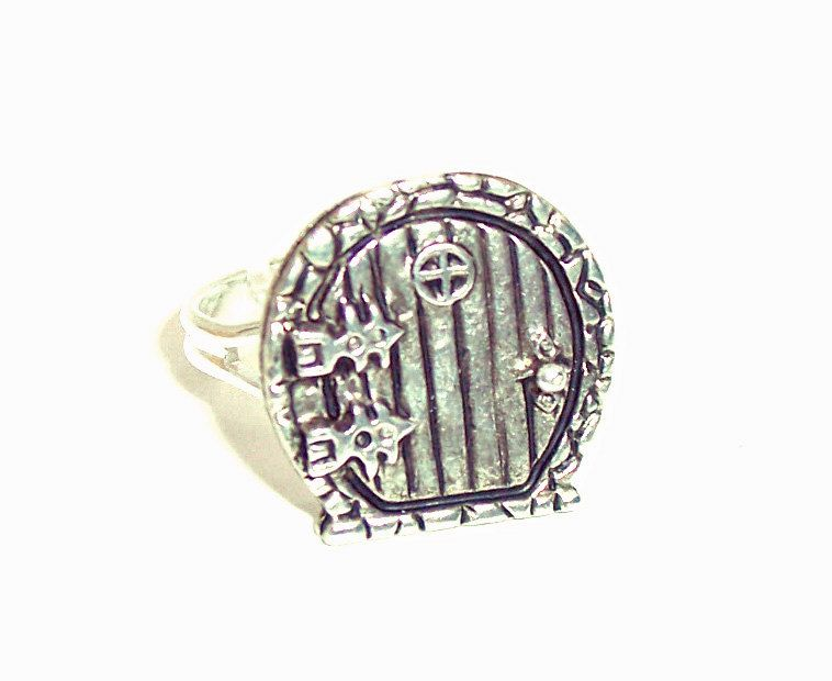 Hobbit Inspired Door Ring Antique