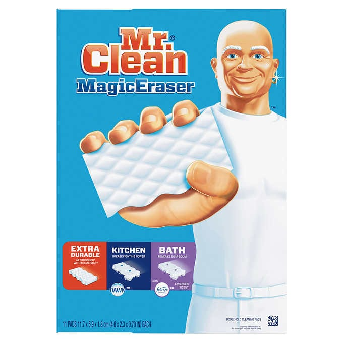 Mr Clean Magic Eraser Household Cleaning Pads Variety Pack 11 Count Magic Eraser Cleaning Household Eraser