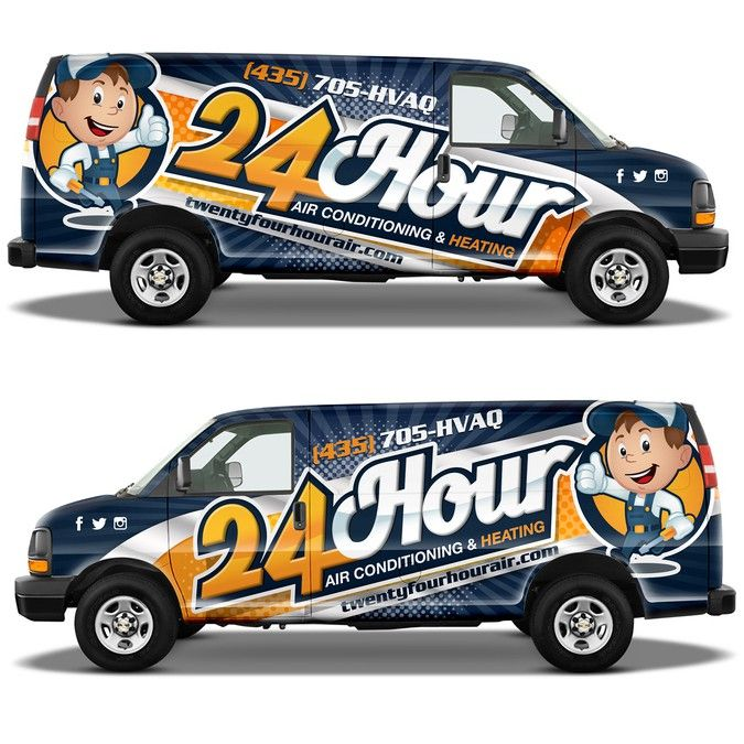 Hvac Van Wrapcreate An Awesome Attractive Van Wrap By Ssrihayak