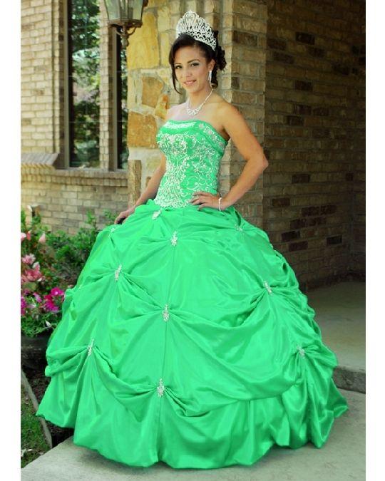 princess prom dress - mint green