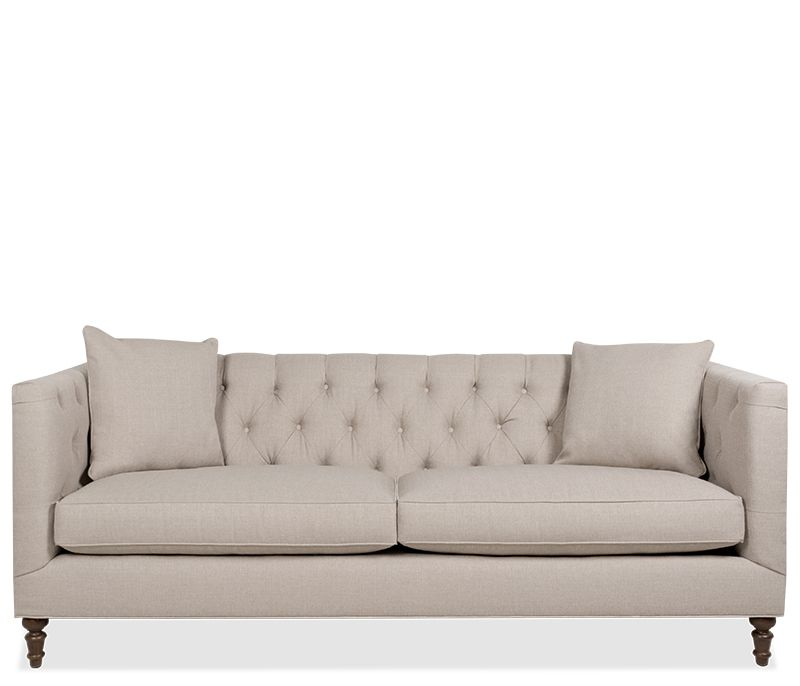 The Mandi Sofa A Classic Look With A Tufted Back Frame Features