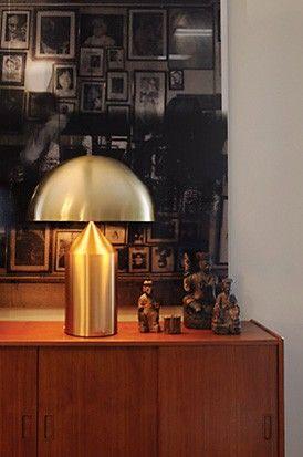 Oluce Atollo 233 Oro Tischleuchten Im Designleuchten Shop Wunschlicht Online Kaufen In 2020 Gold Table Lamp Table Lamp Decorative Table Lamps