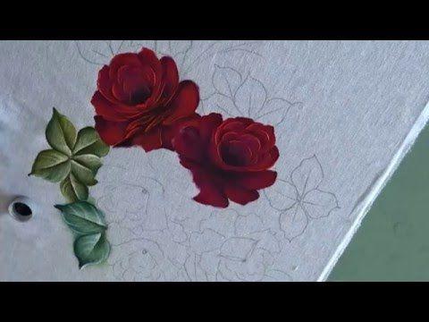 Dicas De Pintura Grátis Pintando Rosas Em Toalha De Mão 2