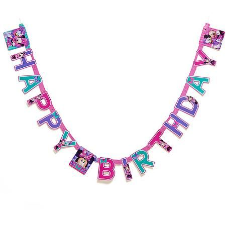 Minnie Mouse Bow Tique Birthday Party Banner Supplies