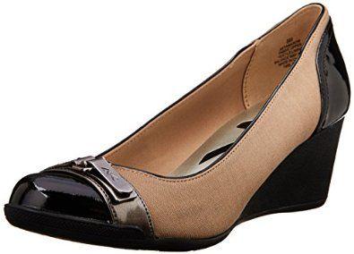 982fac9ec35 Amazon.com  Anne Klein Sport Women s Tamarow Fabric Wedge Pump  Anne Klein   Shoes