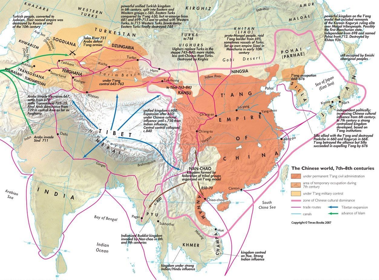 The Chinese World In The 7th And 8th Centuries