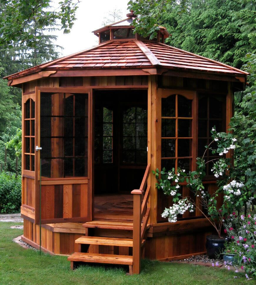 36 Spectacular Hardtop Gazebo Ideas Diy Gazebo Enclosed Gazebo