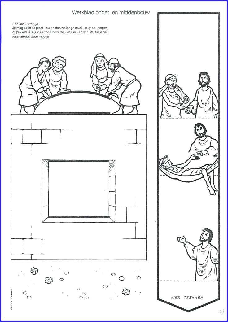 jesus heals paralyzed man coloring page four friends help