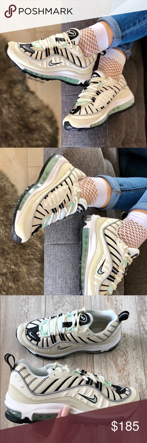 pretty nice c44d6 33975 NWT🧚 ♀️Nike Air max 98 Rare! Brand new with box no lid ...