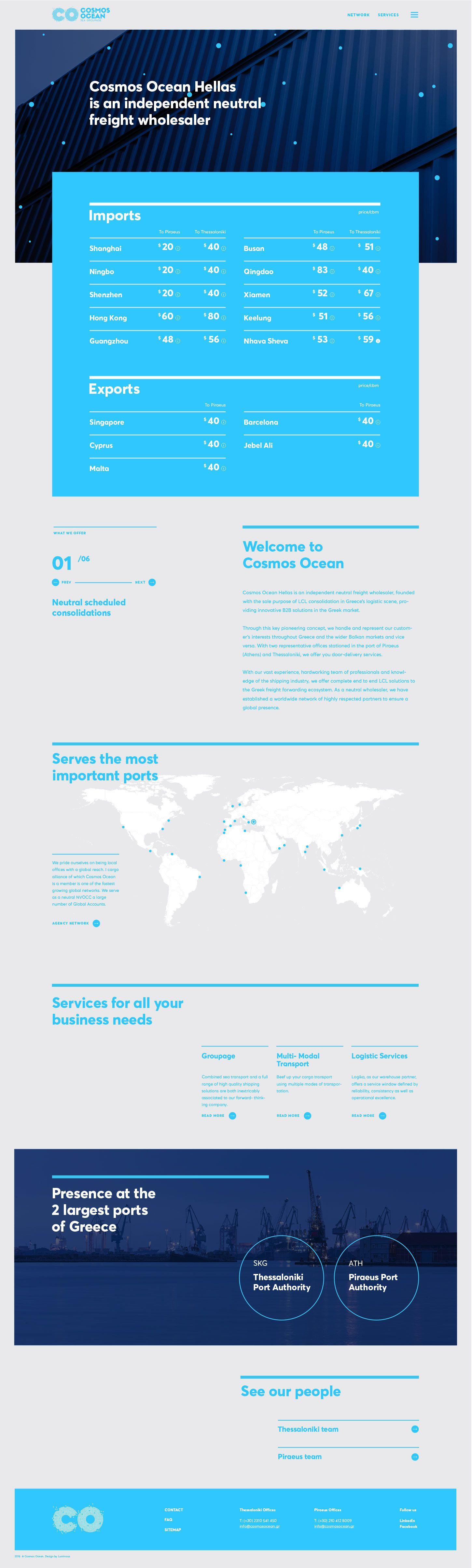 Cosmos Ocean Website Luminous Design Group Cosmos Ocean Web Design