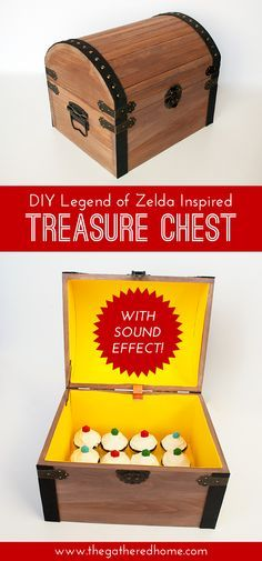 Diy Legend Of Zelda Inspired Treasure Chest Zelda Party Zelda Gifts Toy Store