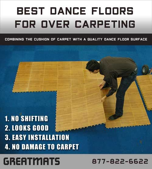 You Can Create A Dance Floor Over Carpeting With Our Recommendations Your Own Studio In Home For Practice