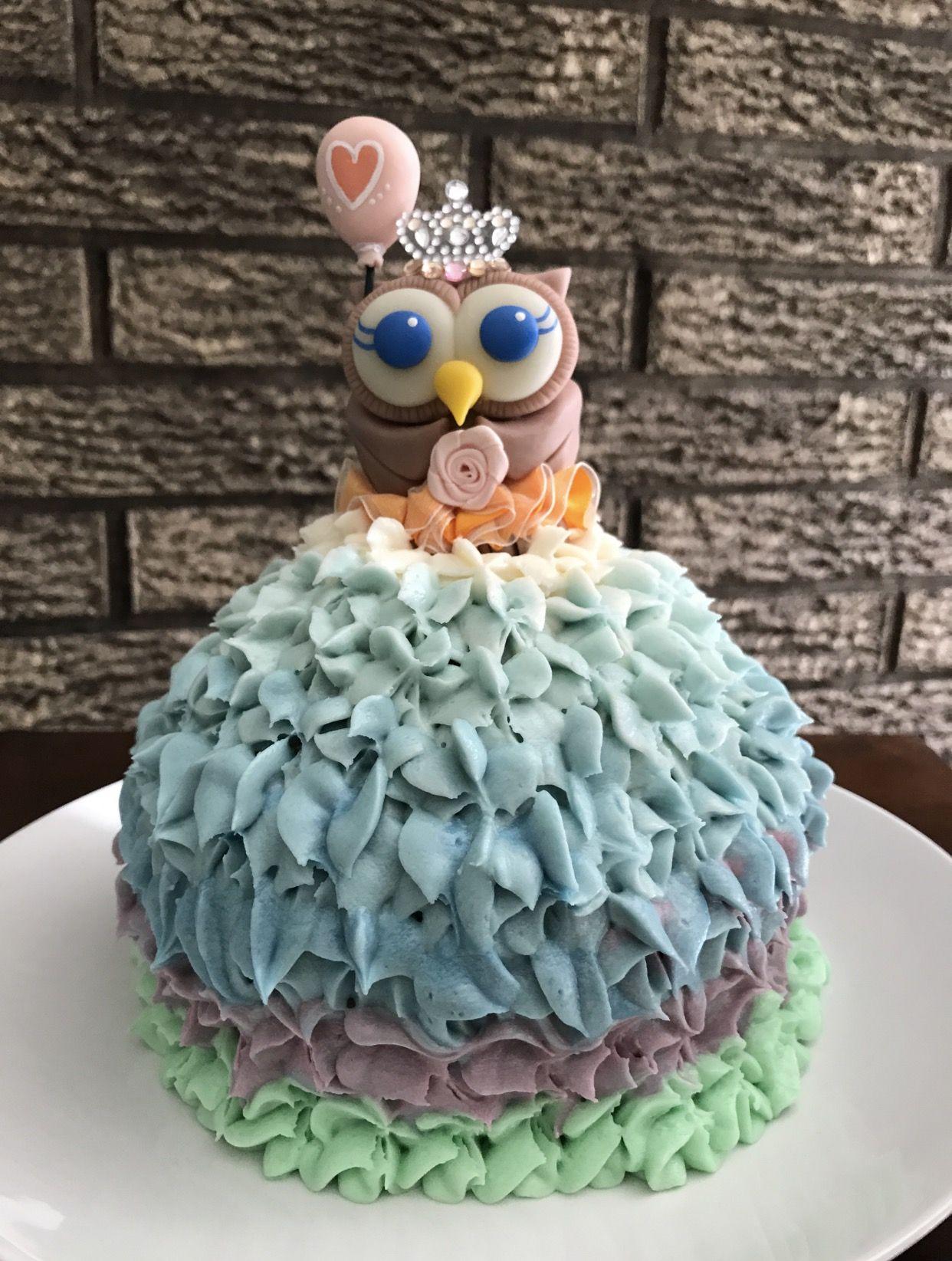Gender reveal cake topper, Baby Shower cake topper for a girl, owl ...