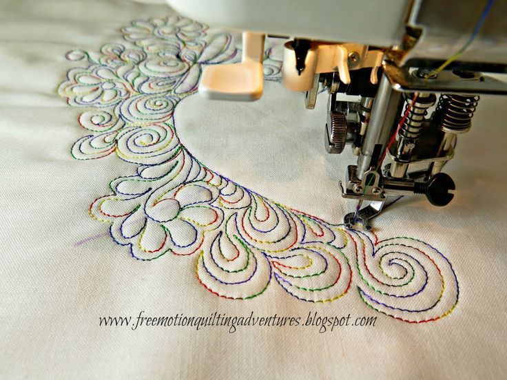 Using dense quilting to make negative space pop! Shows a variety of ...