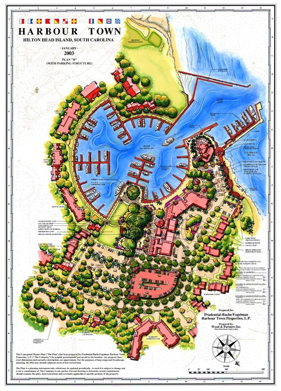Sea Pines Plantation Resort Harbour Town Redevelopment Master Plan - Map of sea pines hilton head island