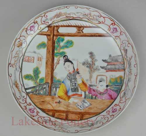 Japanese antique plate -After lakeside pottery repair process & Japanese antique plate -After lakeside pottery repair process ...