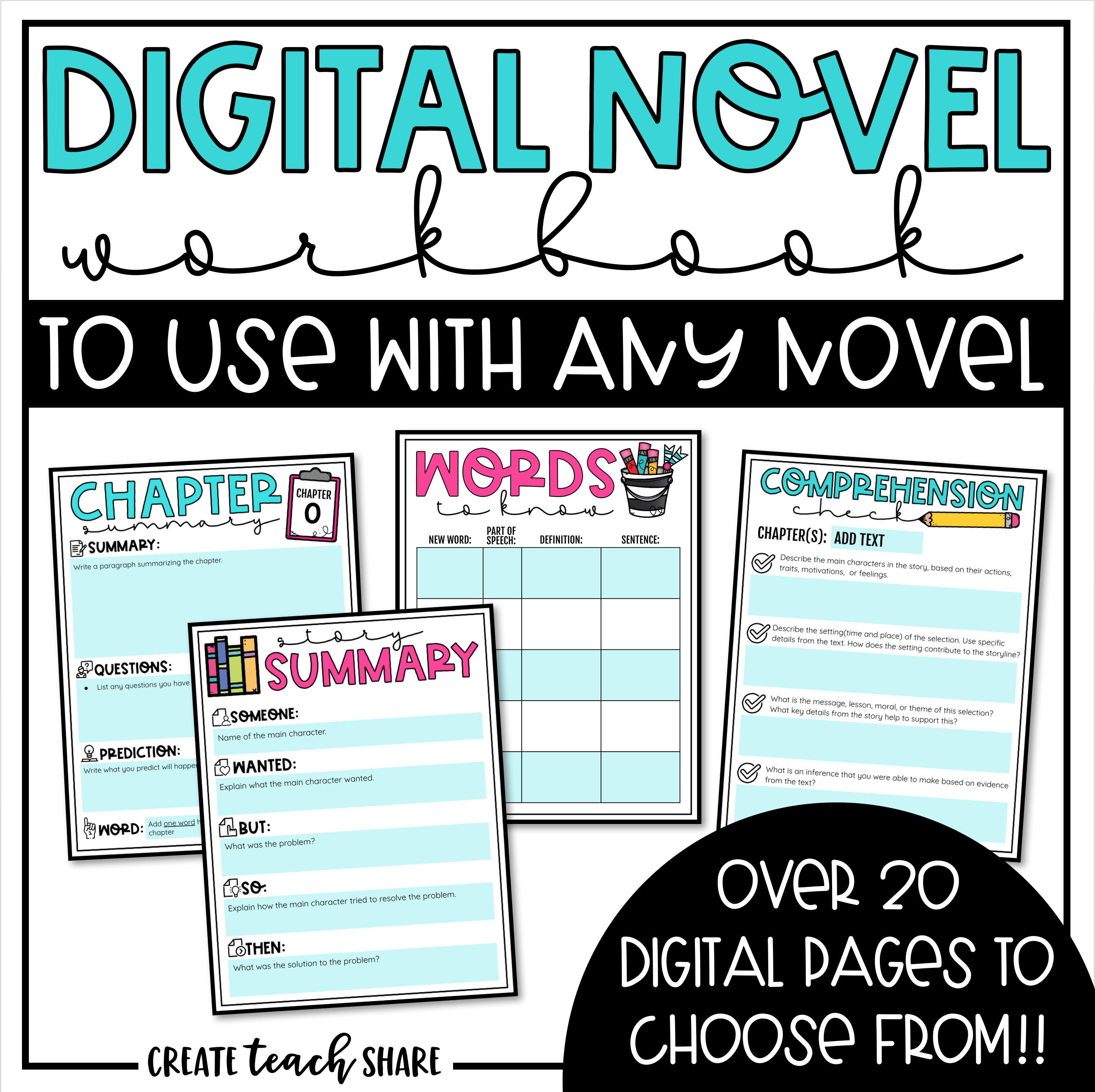 Back-to-School....Already?! - Create Teach Share   Reading response  journals [ 2534 x 2540 Pixel ]