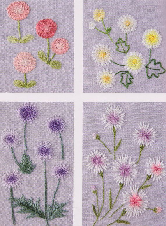 Pdf pattern of one day in my garden hand embroidery pattern sewing quilt applique patchwork art for Garden embroidery designs free