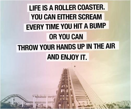 life is a rollercoaster quote quote Life is a roller