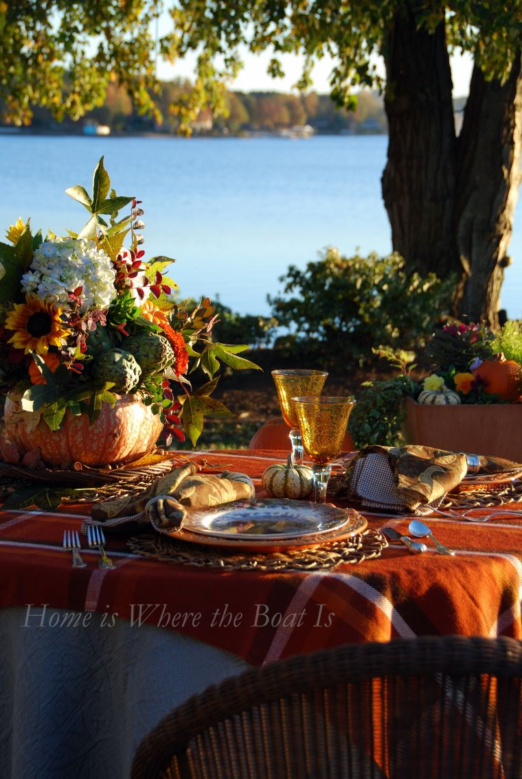 Thanksgiving With a Touch of Blue (With images) Outdoor